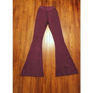 Vintage 70s inspire purple knit bellbottoms